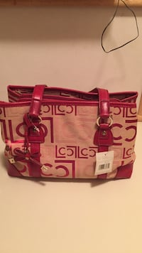 New red and fabric liz claiborne bag Voorhees Township, 08043