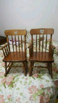 two brown wooden windsor chairs Mississauga, L5V 2L9