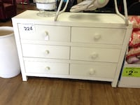 New Missing Back Cover 1 Drawer- Ti Amo Castello RTA Doublr Dresser, Wire Brushed Seashell Long Beach