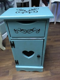 Hand painted wooden small storage stand