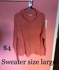 Sweater size large  Colorado Springs, 80909