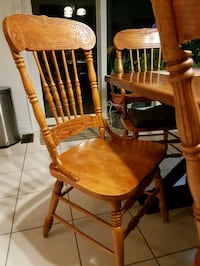 Set of 4 wooden pressback chairs Innisfil, L0L 1W0