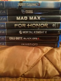 five Sony PS4 game cases St. Catharines, L2R 4T3