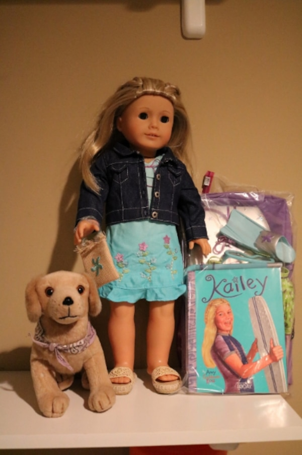 American Girl Doll Kailey, Kailey's Accessories, Kailey's Dog