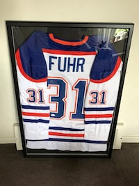 Grant Fuhr signed and framed jersey