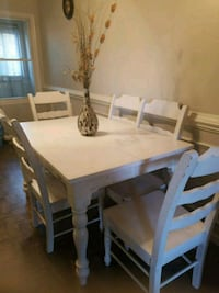 rectangular brown wooden table with four chairs dining set Manassas, 20110