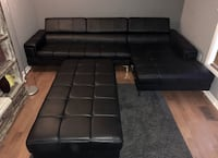 Black faux leather sectional sofa Cambridge, N1R 8M3