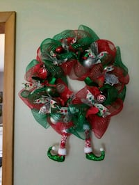 Christmas Deco mesh wreath!  Rockford