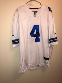 men's white and blue 4 NFL jersey shirt Hickory, 28601
