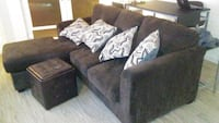 brown sectional couch with throw pillows Seattle, 98109