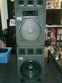 Two pvs15in speakers banging sound