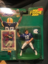 2000-2001 peyton manning starting lineup football Burnham, 17009