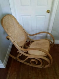 brown wooden framed white padded armchair Durham Regional Municipality, L0C