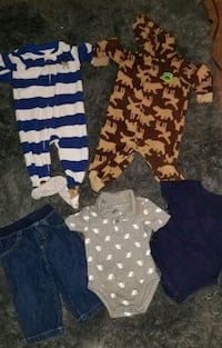 Baby boy 5 piece lot 12 months Los Angeles, 91602