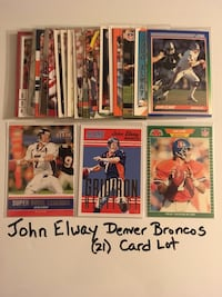 John Elway Stanford Cardinal Denver Broncos Hall of Fame QB (21) Card Lot. Set 1  San Jose, 95148