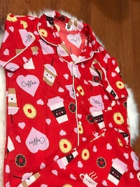 red and white Hello Kitty print zip-up hoodie 8 mi