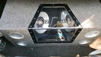 12 sub enclosed ported speaker box (box only) Stafford, 22554