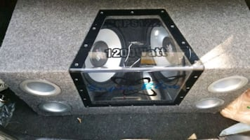 12 sub enclosed ported speaker box (box only)