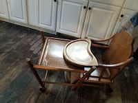 brown wooden framed glass top table Fort Edward, 12828