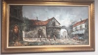 painting of house with brown wooden frame Fort Washington, 20744