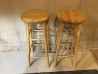 two brown wooden bar stools Little Egg Harbor Twp, 08087