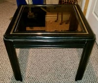 Black 3pc wooden coffee table set
