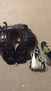 Football pads with cleats used twice Surrey, V3S 7P7