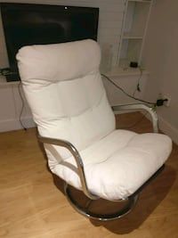 Ikea white and chrome svival chair.  Vancouver, V5R 1L1