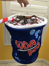 Soda pop costume with straw - Child's one size: ages 4-10