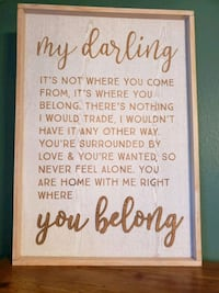Loving quote sign