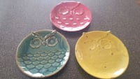 Set of 3 owl plates Lombard, 60148