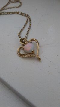 Opal and diamond gold necklace Edmonton, T5Y