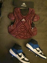 Chest protector and cleats