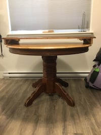 brown wooden drop-leaf table Nanaimo, V9S