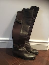 Marc Fisher Real Leather Size 9 Dark Brown Tall Boots Mississauga, L4Z 4A1
