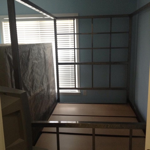 Used Queen size bed, frame, and bed slacks. for sale in Norcross
