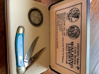 Walking Liberty half dollar and knife set