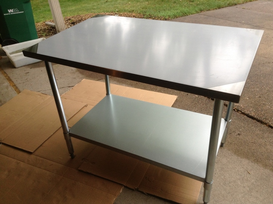 30x48u201d Stainless Steel Work Table