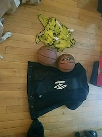 2 basketballs,ball bag ,pick up jerseys  Baltimore