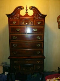 brown wooden dresser with mirror 267 mi