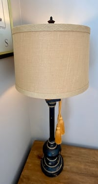 Designer table lamp wirh burlap shade