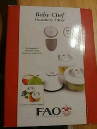 Baby chef 2 10oz containers and vacuum sealer.  Or