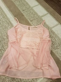women's pink spaghetti strap top Airdrie, T4B