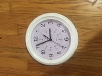 round white and gray analog wall clock New Westminster, V3M 3R5