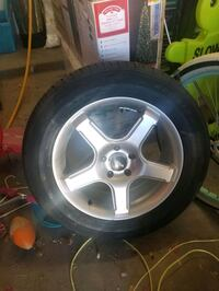 New tire and rim was my spare tire never use  make me offer