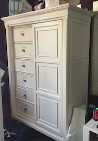 White wooden 6-door cabinet (bought for $2,000) pottery barn Toronto, M9R 3Z1