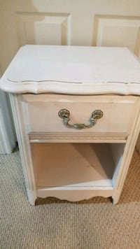 white wooden single-drawer night table Cambridge, N1P 1G8