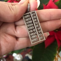 Solid Silver abacus pendant. Arp, 75750
