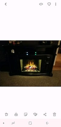 black wooden framed electric fireplace Lombard, 60148