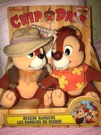 Disney's Playskool 1990 Rescue Rangers Chip 'N Dale Outback Buddies Plush Dolls BNIB  Very rare and collectible plush dolls. Ages 2 and Up.  Model 70737  VIEW MY OTHER ADS!!
